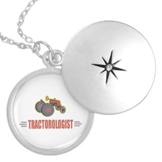 Funny Tractor Locket Necklace