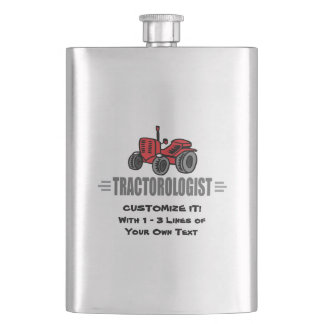 Funny Tractor Love Flask