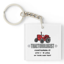 Funny Tractor Love Keychain
