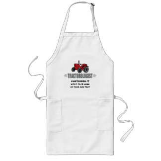 Funny Tractor Love Long Apron