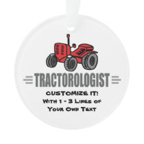 Funny Tractor Love Ornament