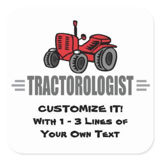 Funny Tractor Love Square Sticker