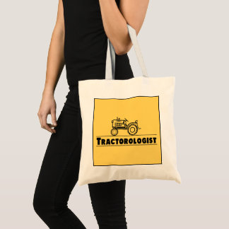 Funny Tractor Personalize Tractorologist Yellow Tote Bag