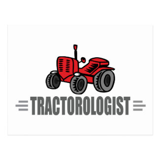 Funny Tractor Postcard
