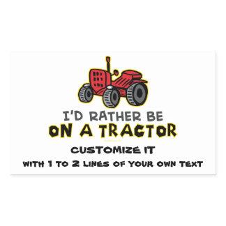 Funny Tractor Rectangular Sticker
