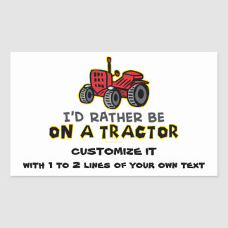 Funny Tractor Rectangular Sticker