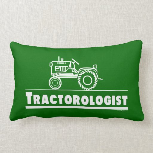 Funny Tractor Throw Pillows