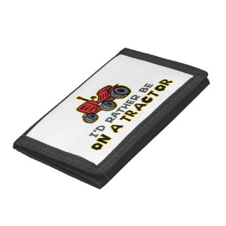 Funny Tractor Trifold Wallet
