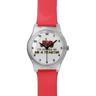 Funny Tractor Wrist Watch