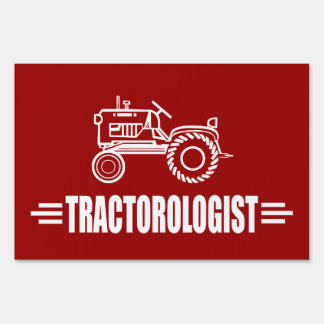 Funny Tractor Lawn Signs