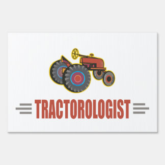 Funny Tractor Lawn Sign