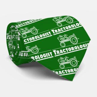 Funny Tractorologist Green Tractor Neck Tie