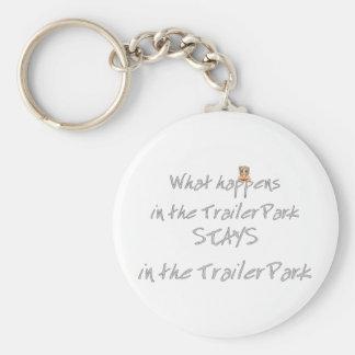 Funny Trailer Park Shirt Keychain