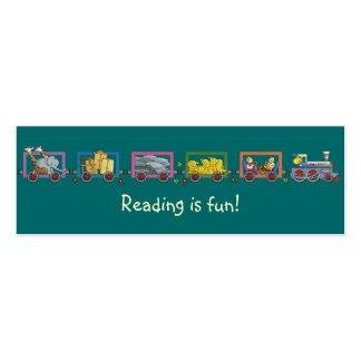 Funny train bookmark Double-Sided mini business cards (Pack of 20)