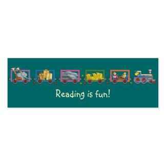 Funny train bookmark business card templates