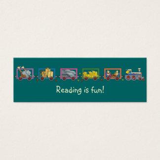 Funny train bookmark mini business card