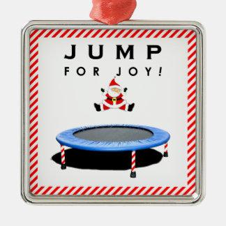 Funny Trampoline Christmas Metal Ornament