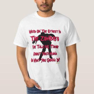 Funny Trash Talking Zombies T-Shirt
