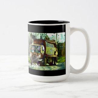 FUNNY TRASH TRUCK DRIVER'S COFFEE MUGS