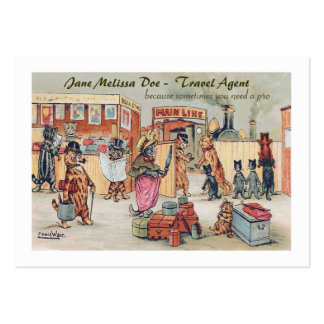 Funny Travel Agent or Tour Operator- Two Sided Large Business Cards (Pack Of 100)
