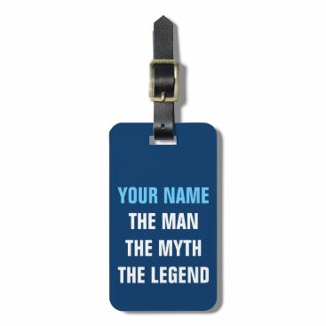 logotees Funny travel luggage tag | The man myth legend