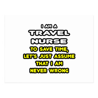Funny Travel Nurse T-Shirts and Gifts Postcard