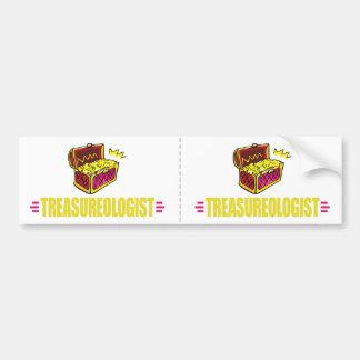 Funny Treasure Hunting Bumper Sticker