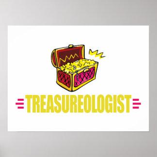 Funny Treasure Hunting Poster