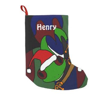 Funny Tree Frog Art Christmas Stocking Small Christmas Stocking