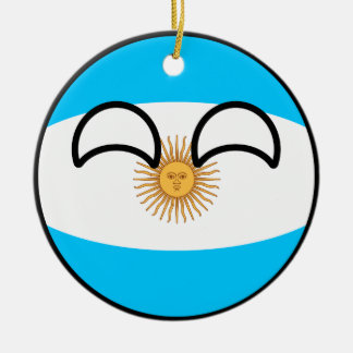 Funny Trending Geeky Argentina Countryball Ceramic Ornament