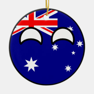 Funny Trending Geeky Australia Countryball Ceramic Ornament