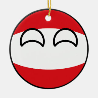 Funny Trending Geeky Austria Countryball Ceramic Ornament