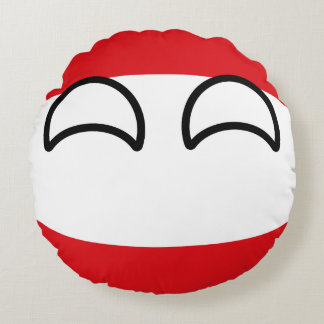 Funny Trending Geeky Austria Countryball Round Pillow