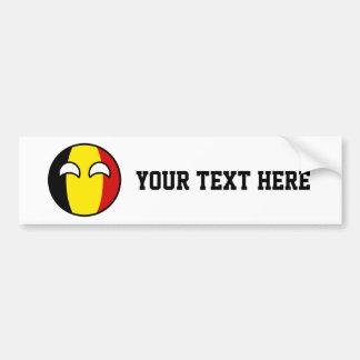 Funny Trending Geeky Belgium Countryball Bumper Sticker