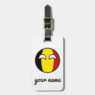 Funny Trending Geeky Belgium Countryball Luggage Tag