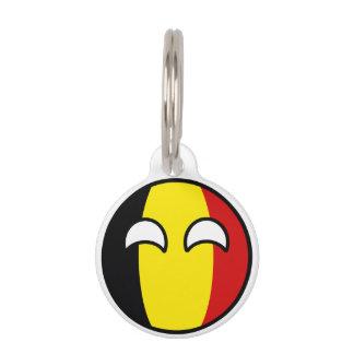 Funny Trending Geeky Belgium Countryball Pet Name Tag