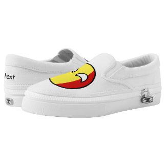 Funny Trending Geeky Belgium Countryball Slip-On Sneakers