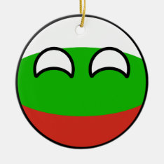 Funny Trending Geeky Bulgaria Countryball Ceramic Ornament at Zazzle