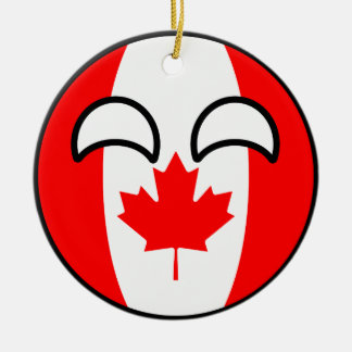 Funny Trending Geeky Canada Countryball Ceramic Ornament