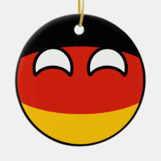 Funny Trending Geeky Germany Countryball Ceramic Ornament at Zazzle