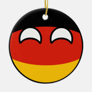 Funny Trending Geeky Germany Countryball Ceramic Ornament
