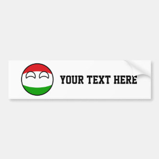 Funny Trending Geeky Hungary Countryball Bumper Sticker