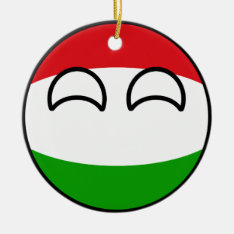 Funny Trending Geeky Hungary Countryball Ceramic Ornament at Zazzle