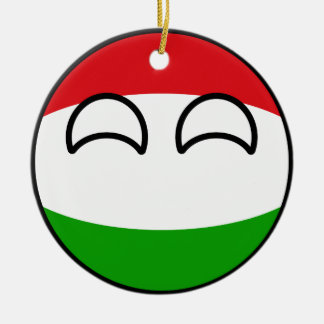 Funny Trending Geeky Hungary Countryball Ceramic Ornament