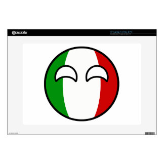"Funny Trending Geeky Italy Countryball 15"" Laptop Skins"