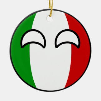 Funny Trending Geeky Italy Countryball Ceramic Ornament