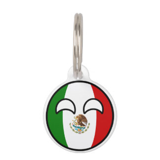 Funny Trending Geeky Mexico Countryball Pet ID Tag