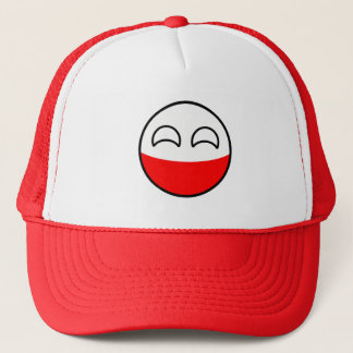 Funny Trending Geeky Poland Countryball Trucker Hat