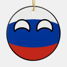 Funny Trending Geeky Russia Countryball Ceramic Ornament at Zazzle