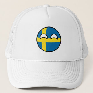 Funny Trending Geeky Sweden Countryball Trucker Hat